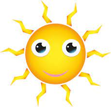 Happy slunce kreslený styl   Veřejně dostupné vektory